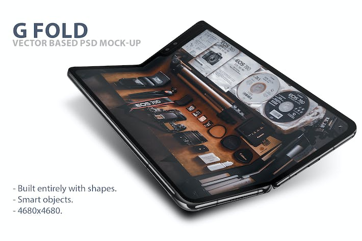 Thumbnail for G Fold Smartphone PSD Mock-Ups