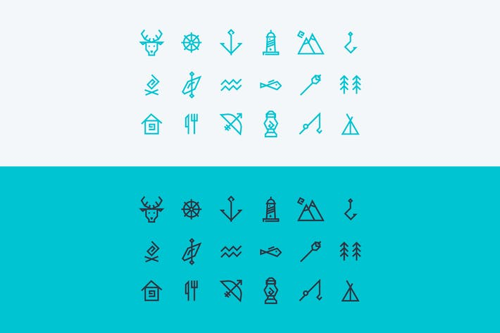 vector icons set about travel and tourism