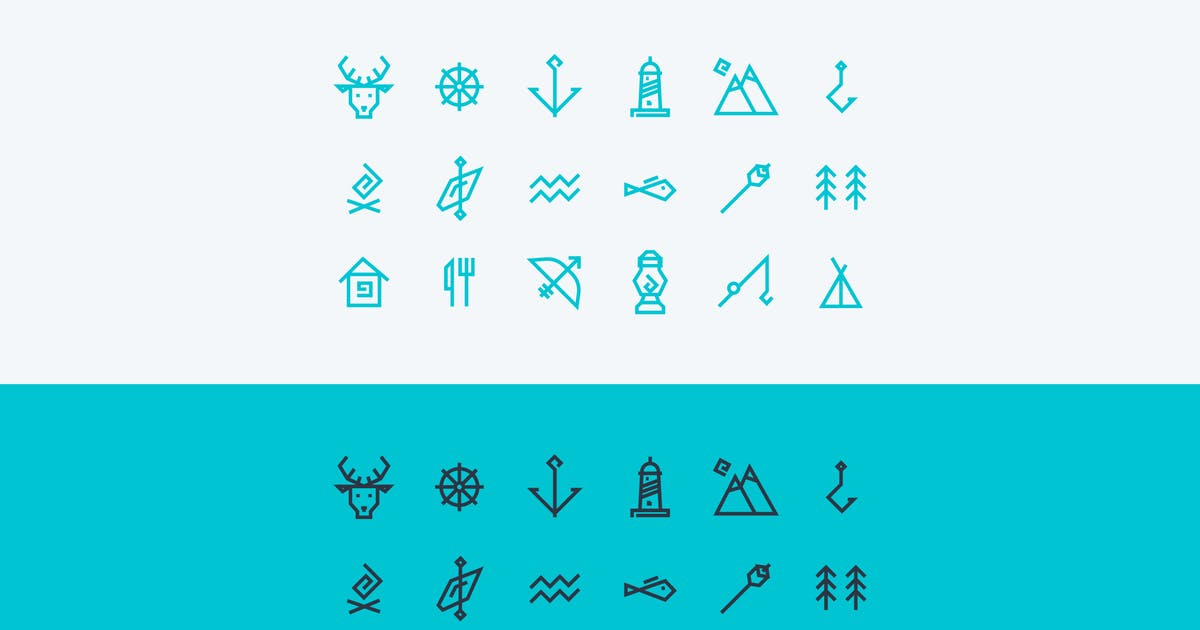 Download vector icons set about travel and tourism by fet