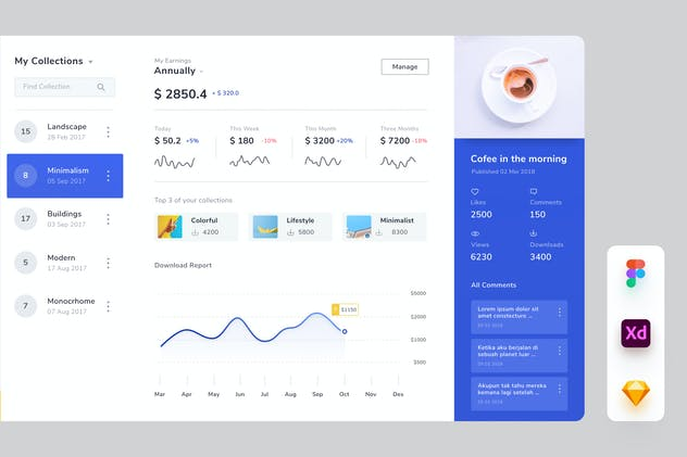 Dashboard Page Ui Kits