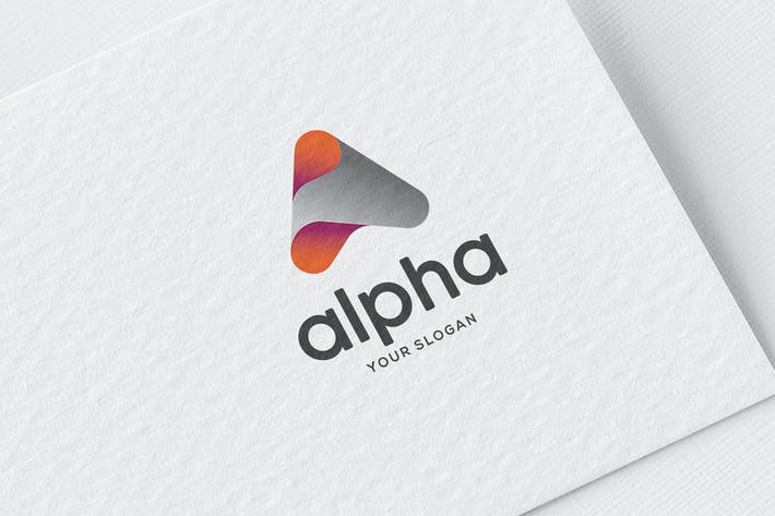 Cover Image For A letter Alpha Logo