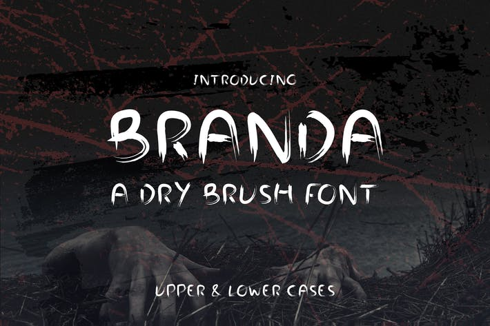 Thumbnail for Branda - Dry Brush Web Font