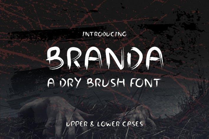 Cover Image For Branda - Dry Brush Web Font