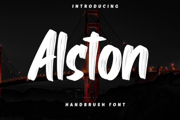 Alston - Handbrush Font