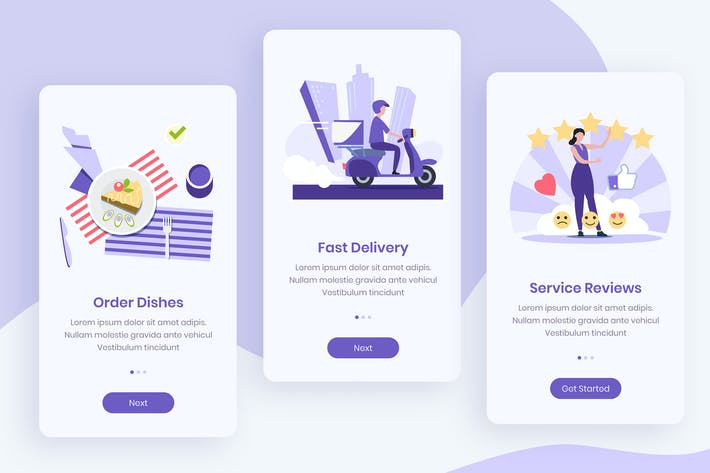 Thumbnail for Order Food Onboarding App Screens
