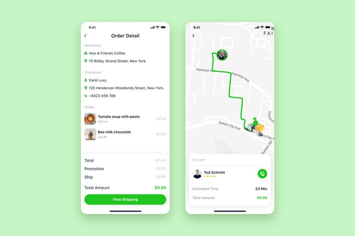 Thumbnail for Delivery App mobile UI Concept