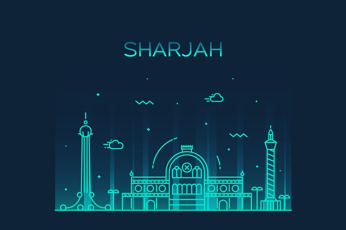 Thumbnail for Sharjah skyline, Arab Emirates
