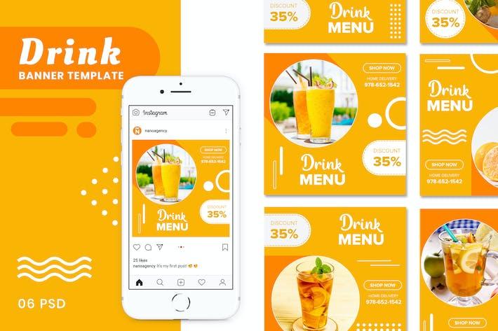 Getränke-Banner Vorlagen