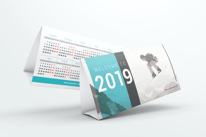 Thumbnail for Desk Calendar Mockups