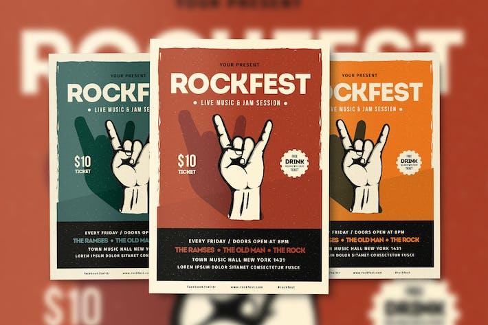 Thumbnail for Póster del Folleto de Rockfest