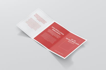 A4 / A5 Tri-Fold Brochure Mock-Up