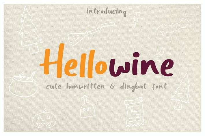 Thumbnail for Hellowine - Cute Handwritten Font