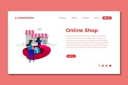 Online Shopping - Web Header