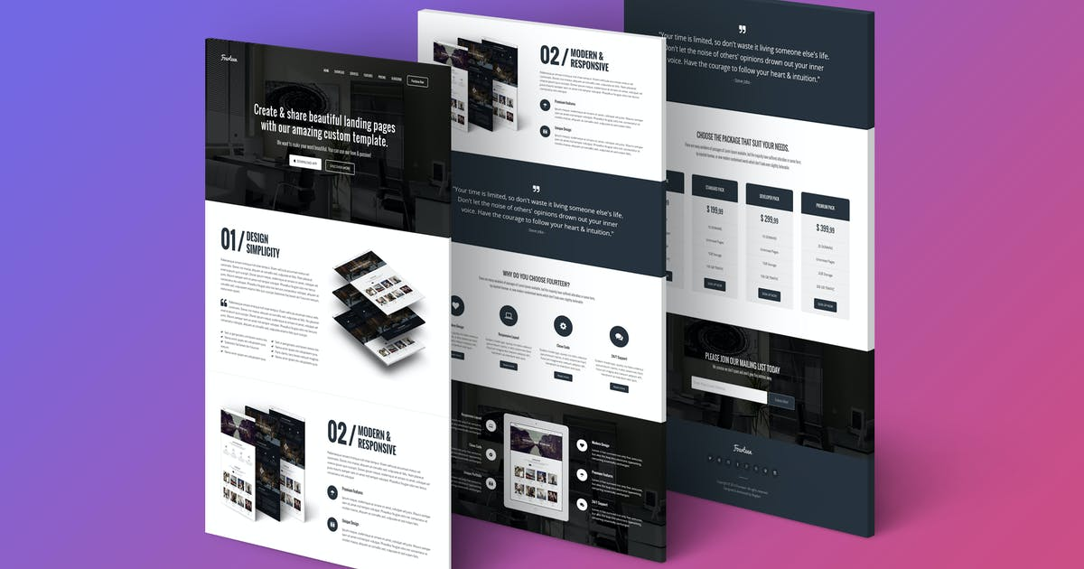 Download Fourteen - Responsive Landing Page Template by Epic-Themes