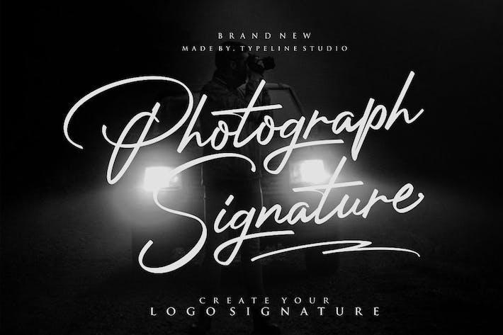 Firma de fotografía
