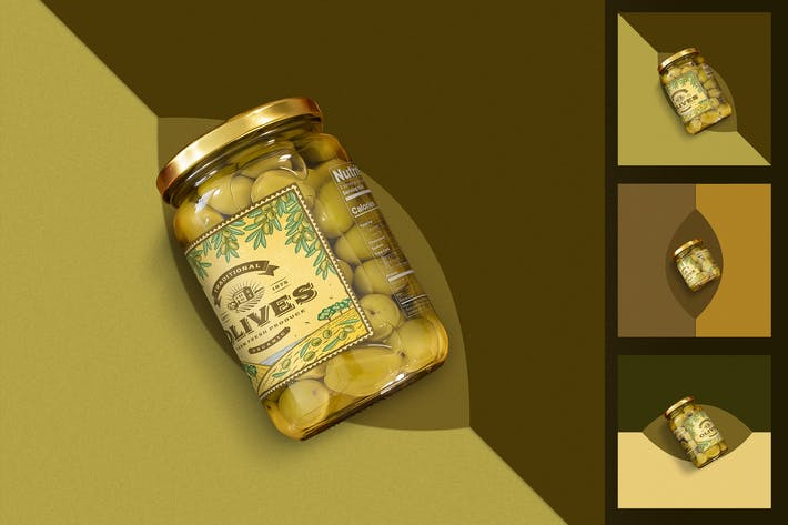 Thumbnail for Minimalist Olives Jar Mockup