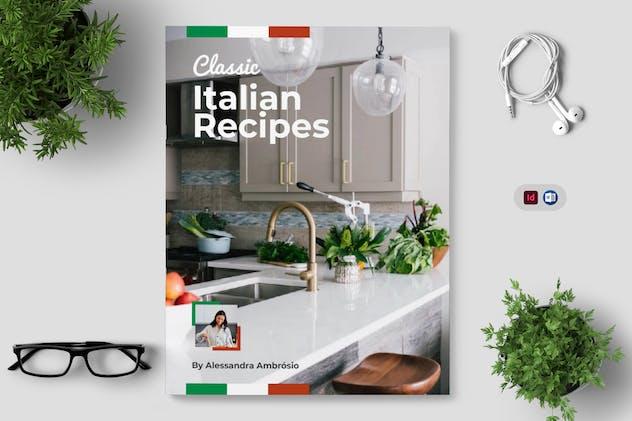 Italian Recipe Book Template