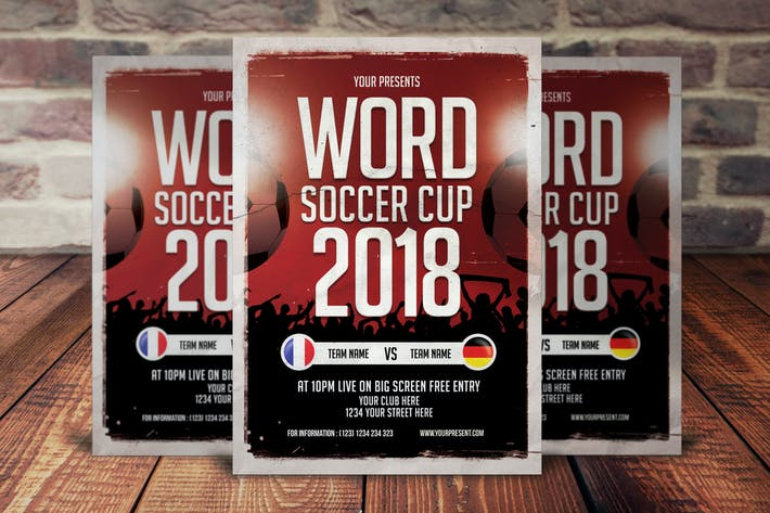 Thumbnail for Word Soccer Cup Flyer