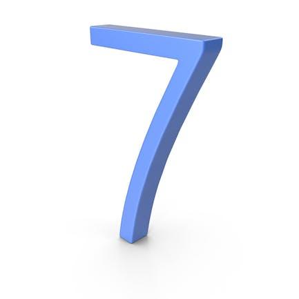 Number 7 Blue