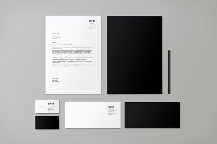 Thumbnail for Stationery Template Identity - Solid
