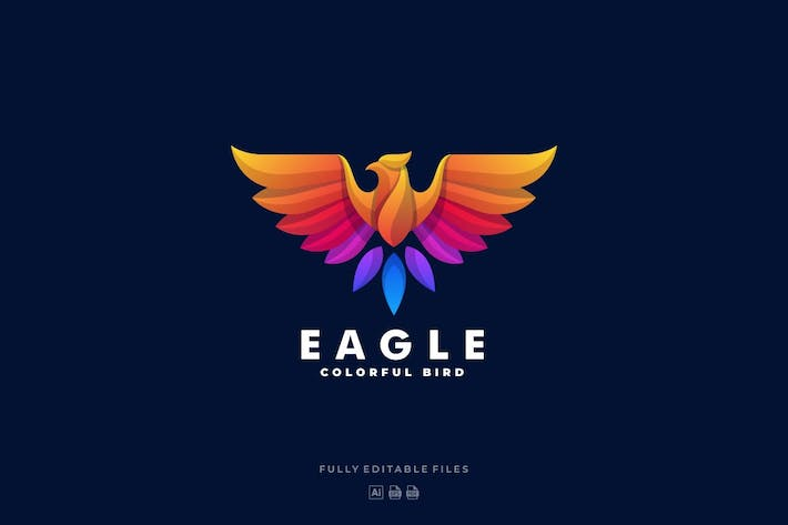 Thumbnail for Eagle Gradient Colorful Logo