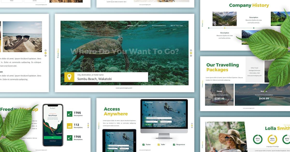 Download Freeday - Traveling Keynote Template by SlideFactory