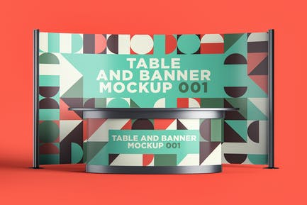 Table and Banner Mockup 001
