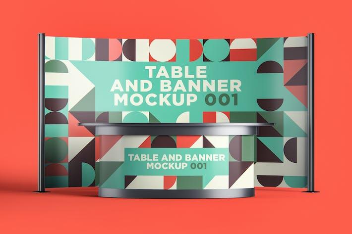 Thumbnail for Table et bannière Mockup 001