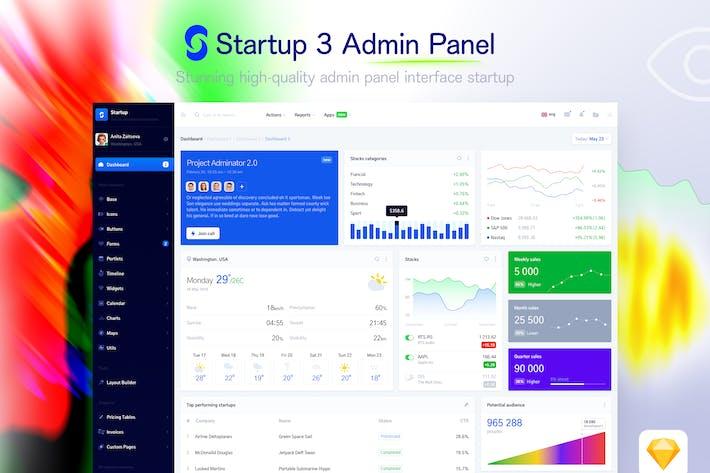 Thumbnail for Startup 3 - Admin Panel