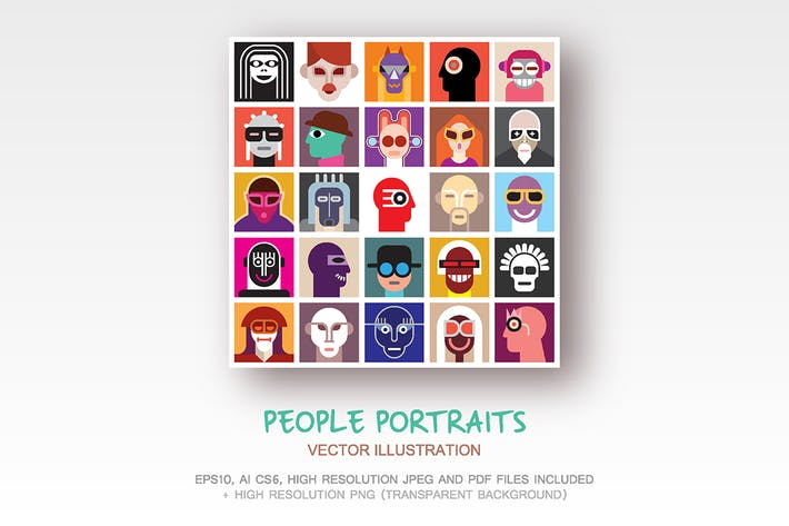 Thumbnail for People Portraits vector illustration
