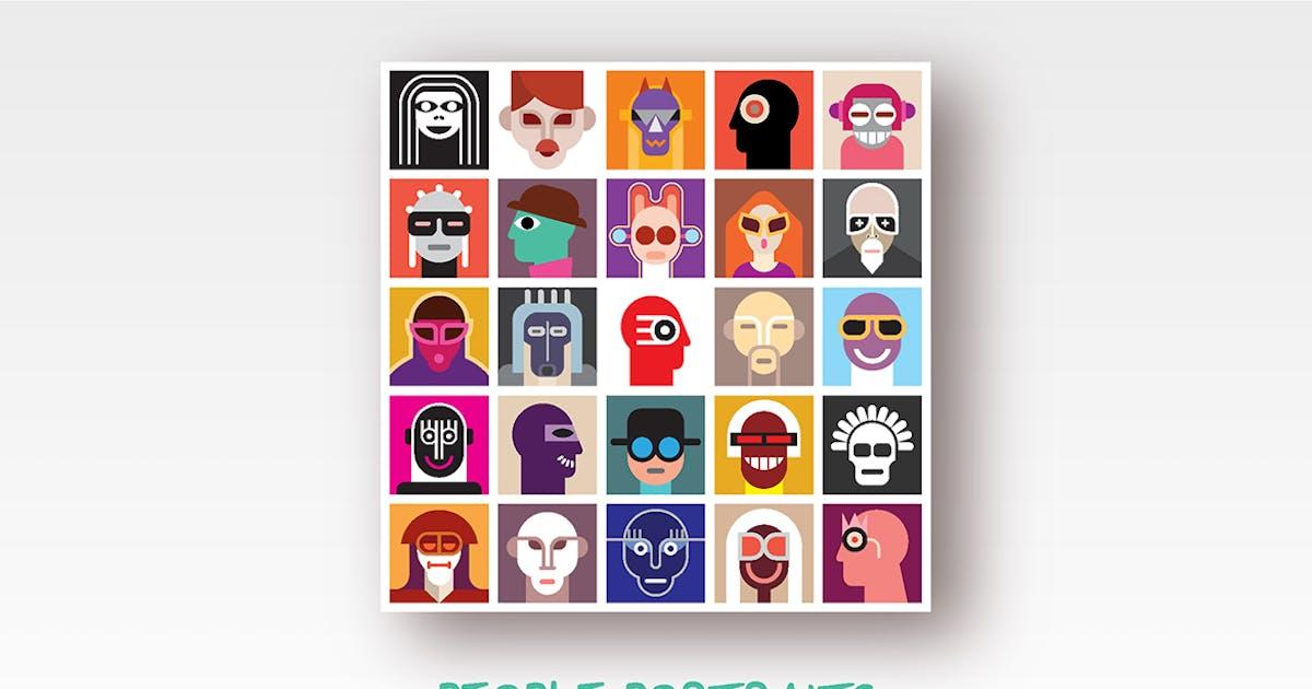 Download People Portraits vector illustration by danjazzia