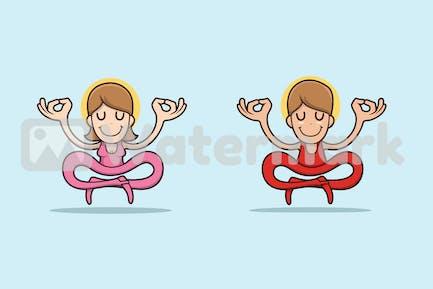 Meditating Characters