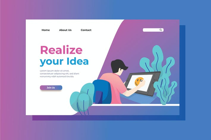 Thumbnail for Creativity Landing Page Illustration