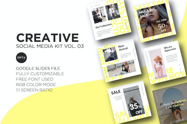 Thumbnail for Creative Social Media Kit Vol. 03 - Google Slides