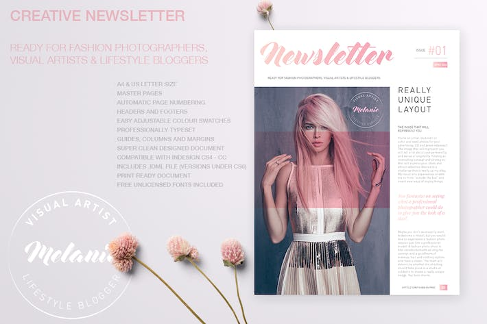 Thumbnail for Melanie - Creative Newsletter