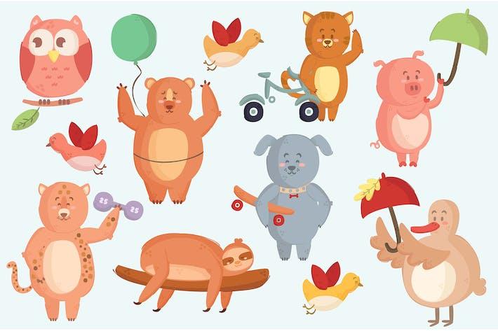 Thumbnail for Verschiedene Tiere Illustrationspaket