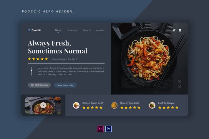 Fooddic | Hero Header