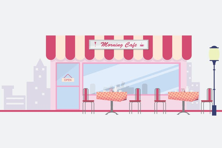 Thumbnail for Cafe - Illustration Hintergrund