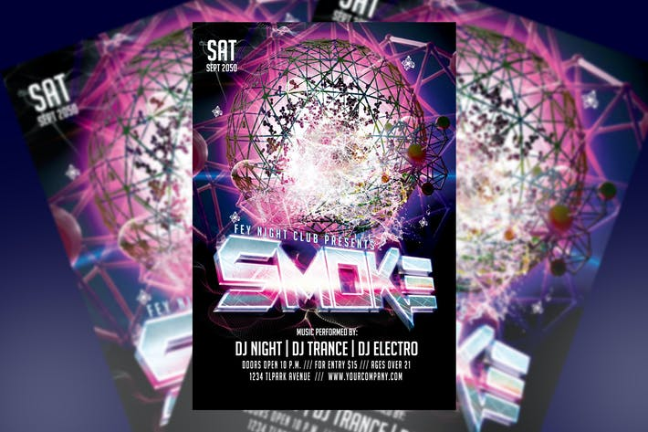 Thumbnail for Smoke Party Flyer