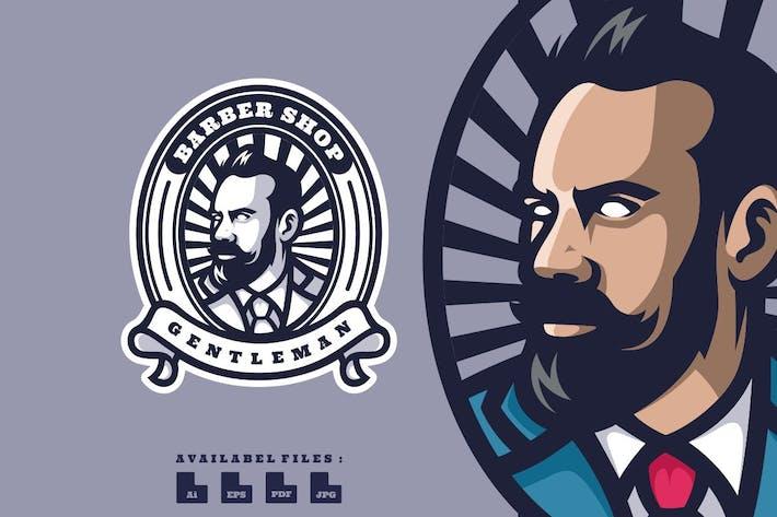 Barber Shop Logo Mascot