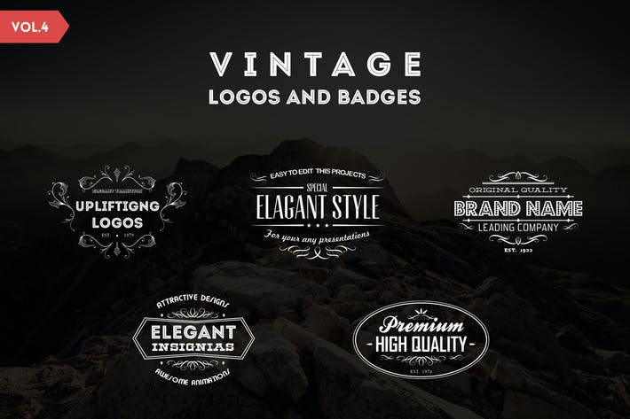 Thumbnail for Vintage Logos and Badges Template - Vol.4