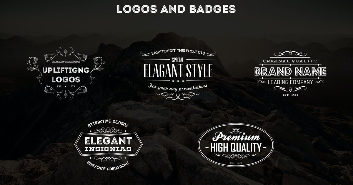 Download Vintage Logos and Badges Template - Vol.4 by DigitalHeaps