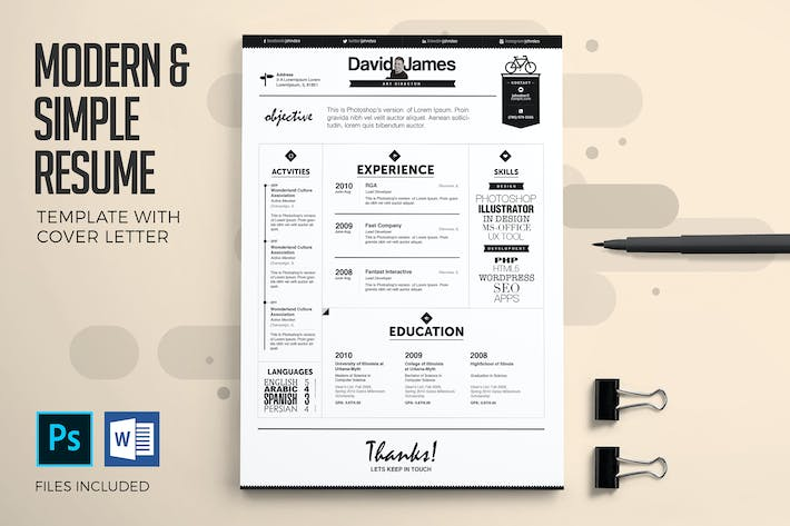 Cover Image For Executive Resume & Cover Letter Template