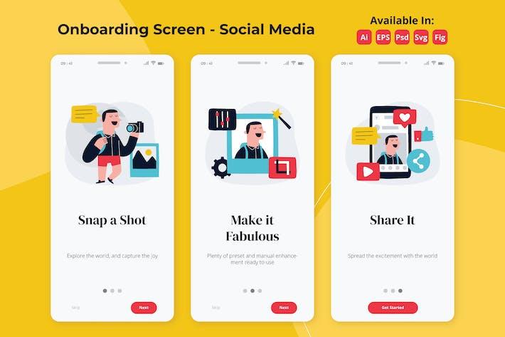 Thumbnail for Foto-Sozial-Media-Onboarding-Bildschirme