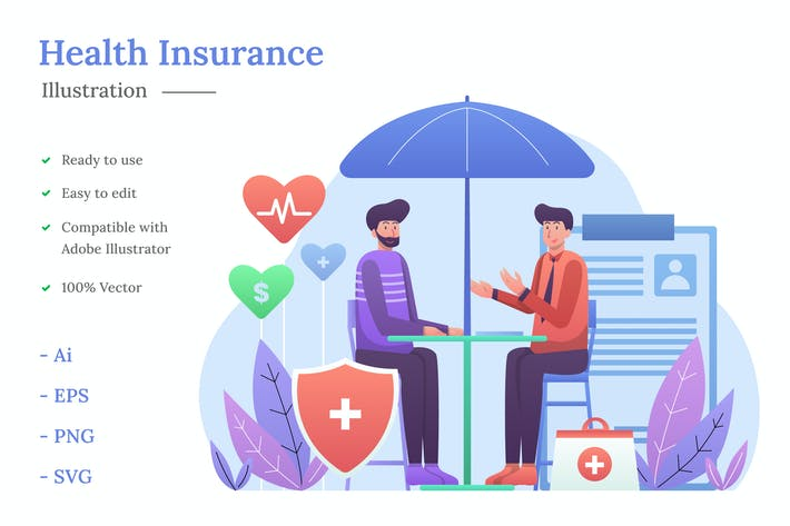 Health Insurance Illustration