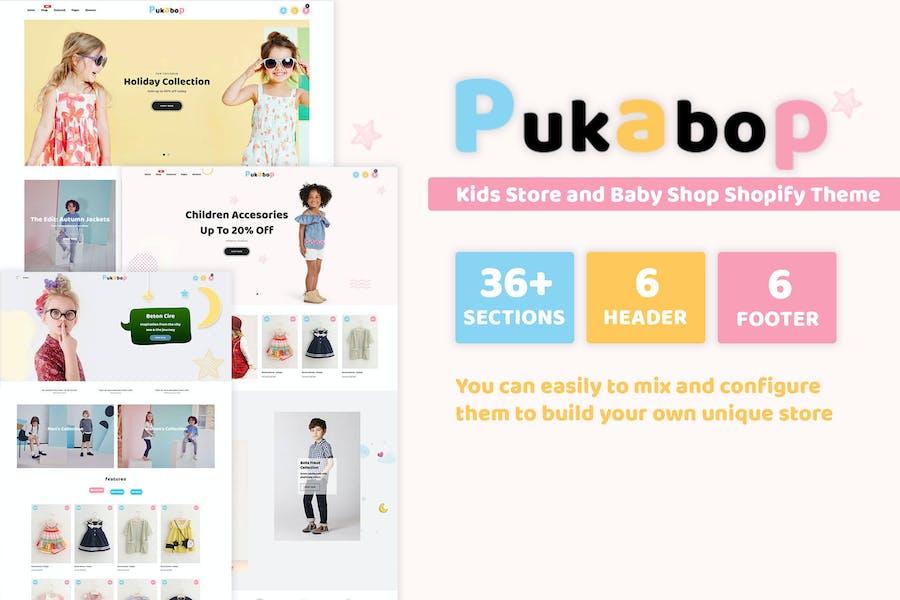 Pukabop - Tienda infantil y tienda de bebés Shopify Tema