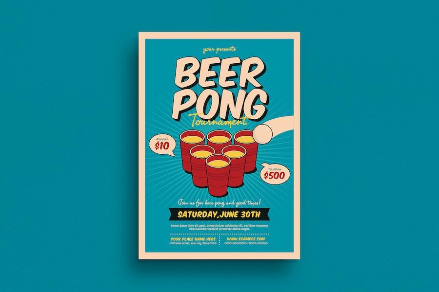 Beer Pong Tournament Flyer