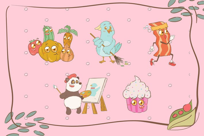 Thumbnail for Cute Animal Illustrations