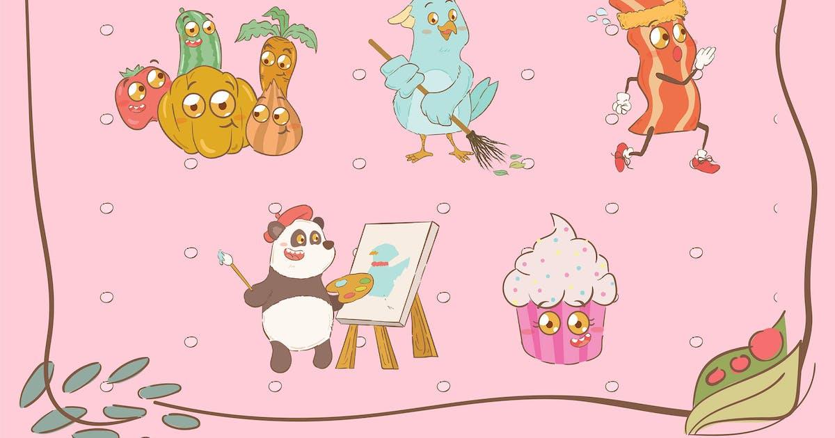 Download Cute Animal Illustrations by uicreativenet