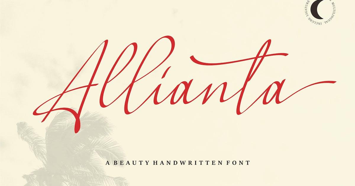 Download Allianta | A Beauty Handwritten Font by Vunira